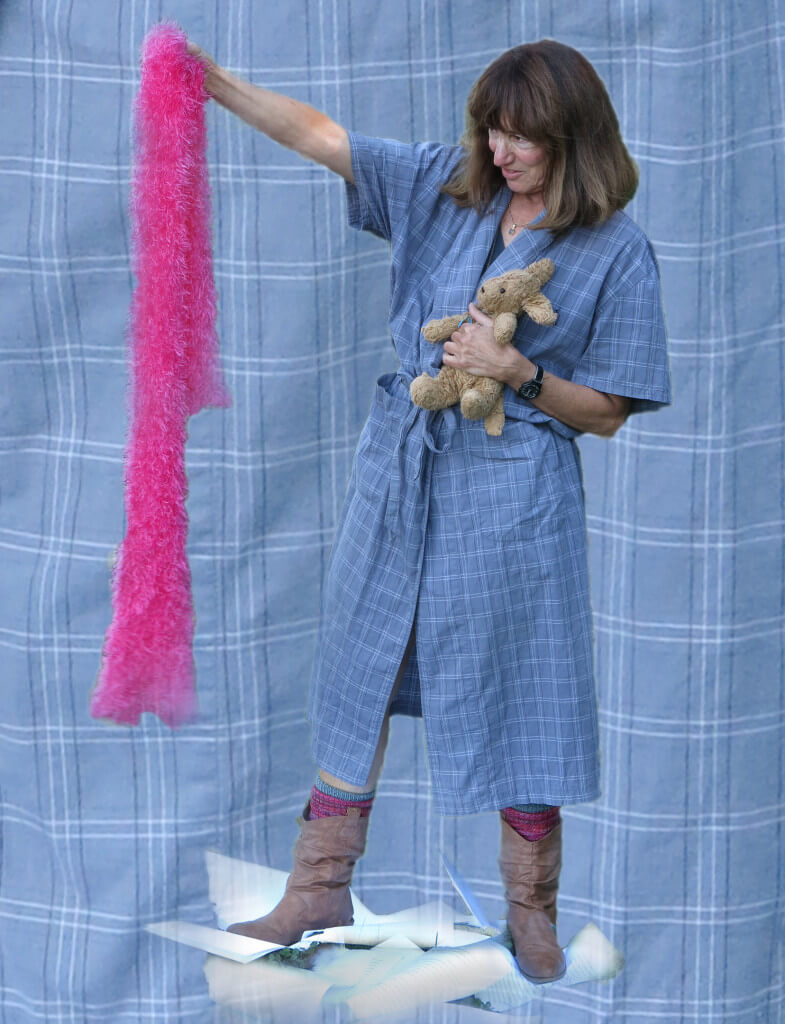 In Ithaca, New York, Robin Botie holds onto her daughter's stuffed puppy and old cowboy boots but she lets go of the pink boa and her manuscript.