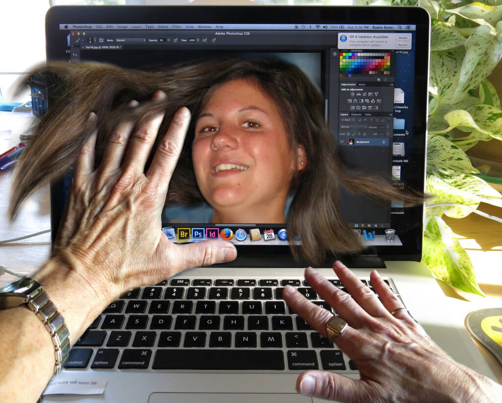 What to Say When Someone Dies - Robin Botie in Ithaca, New York, hovers over computer screen showing her daughter, Marika Warden, who died of leukemia at the age of 20.