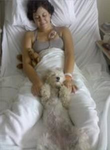 Marika Warden of Ithaca, New York, with Suki the Havanese life-saving dog, photographed by Ray Possen