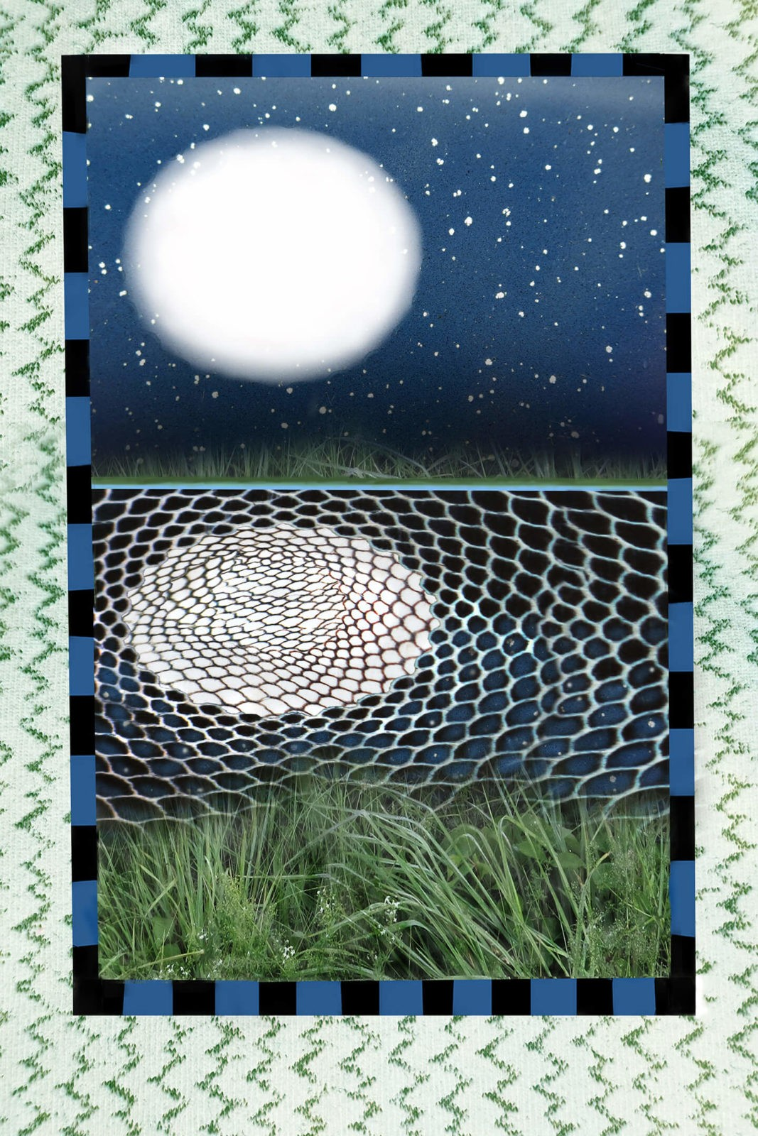 Robin Botie of ithaca, New York, photoshops the full moon relecting in a pond.