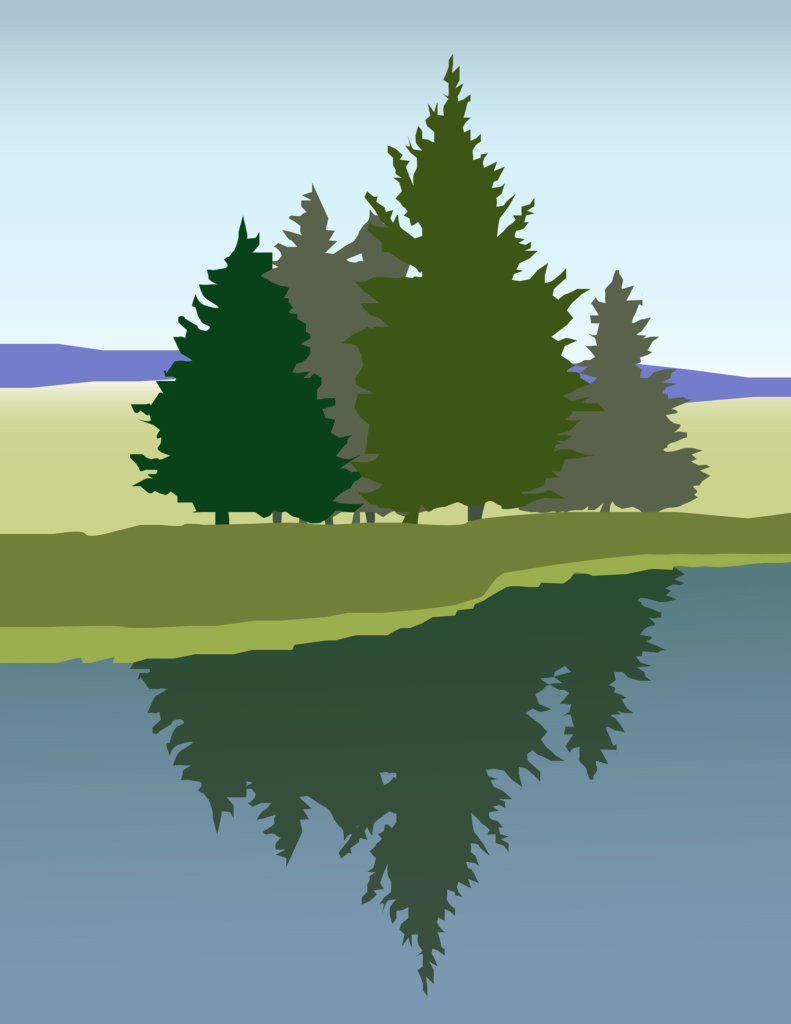 Robin Botie of ithaca, New York, uses Photoshop and Adobe Illustrator to show a stand of trees representing the new Ithaca chapter of The Compassionate Friends, a worldwide child loss grief support group helping bereaved families grow and heal.