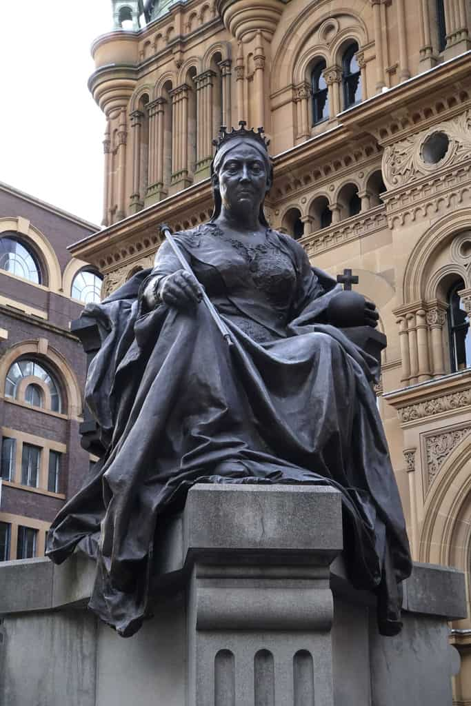 Robin Botie of ithaca, New York, photographs statue of Queen Victoria in Sydney, Australia.