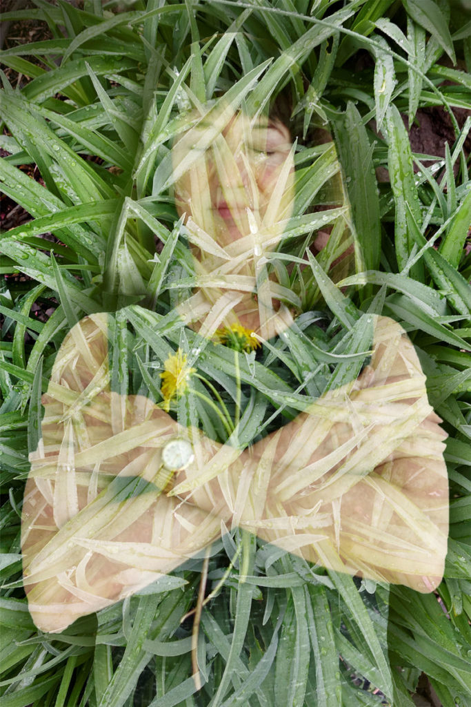 Robin Botie of Ithaca, New York, photoshops how she wants to die peacefully, in a garden