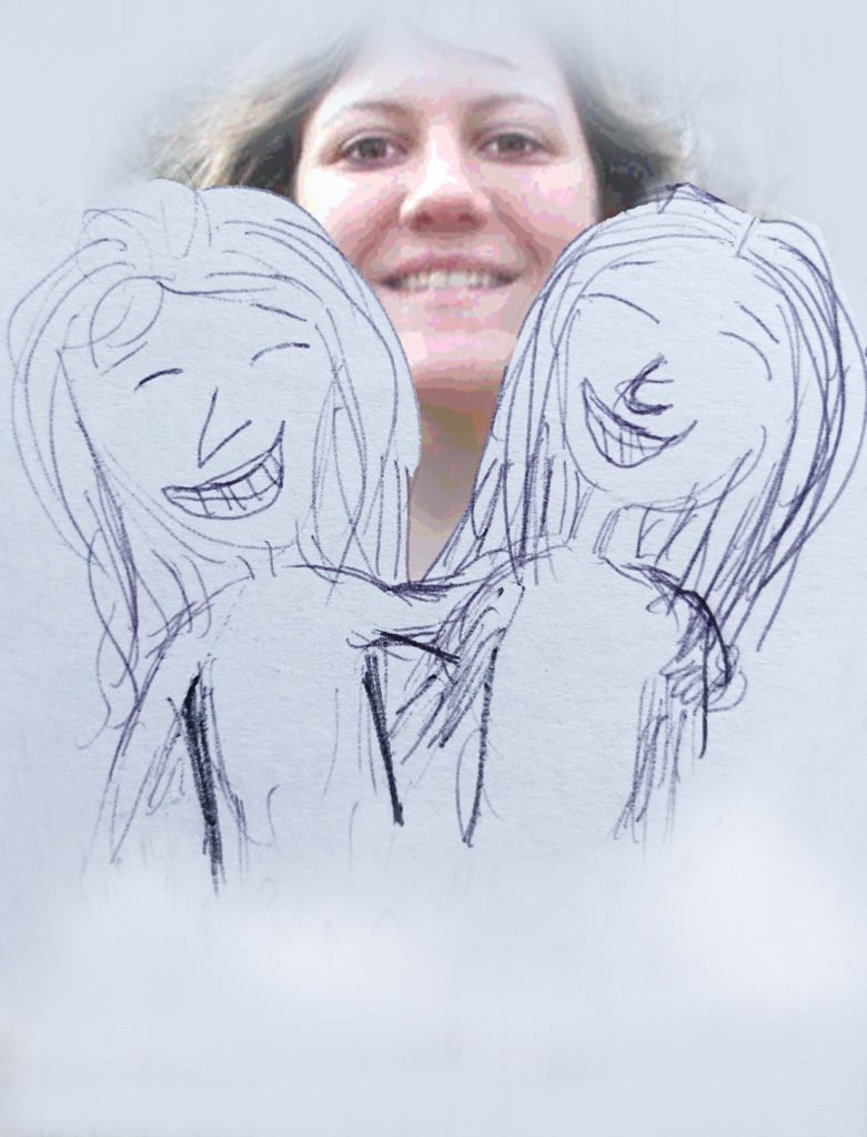 Talking About Death Robin Botie of Ithaca, New York, photoshops a drawing found in her daughter Marika Warden's room. She pictures death with the face of her daughter so it isn't so scary and unapproachable.