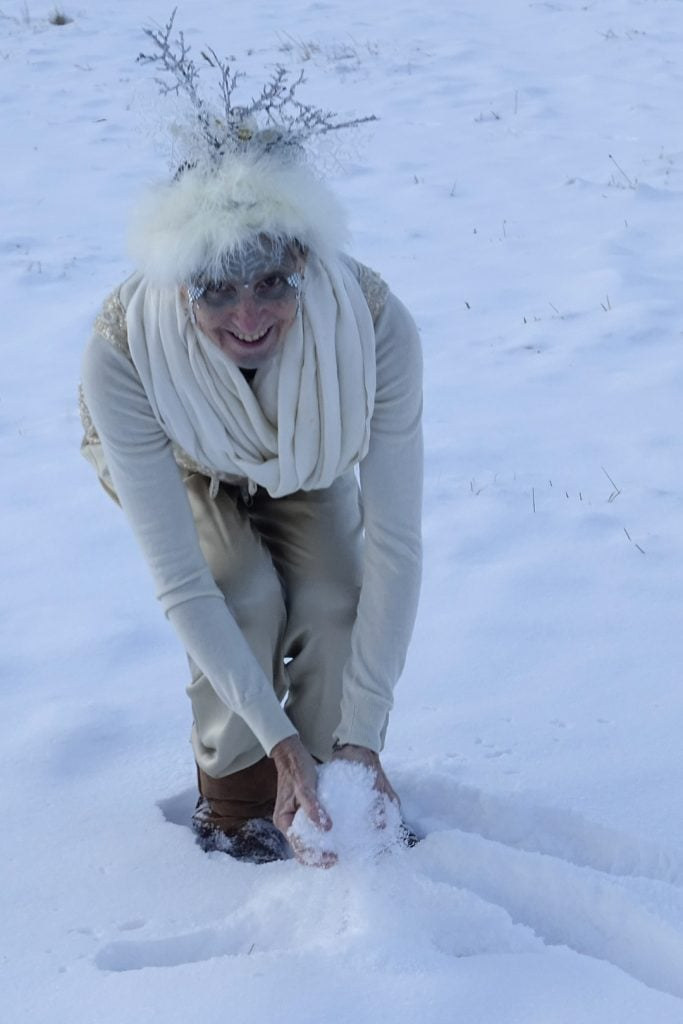 Happy Winter Solstice 2019 Robin Botie in Ithaca, New York, photographs a Snow Queen on the winter solstice 2019.