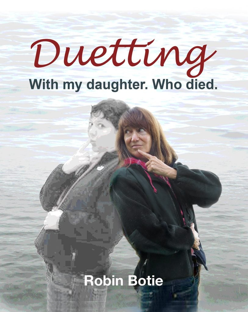 Getting a Life   Robin Botie of Ithaca, New York, photoshops a cover for her manuscript that helped her heal from child loss, and will now be shared on her blog.