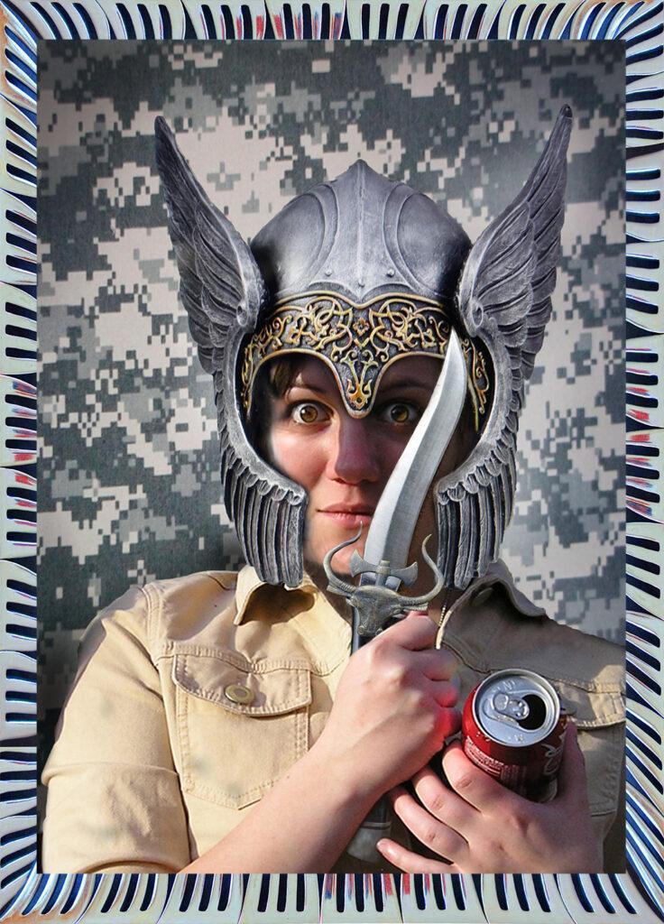 Duetting: Memoir 22 Robin Botie of Ithaca, New York, photoshops her daughter Marika Warden as a fierce warrior.