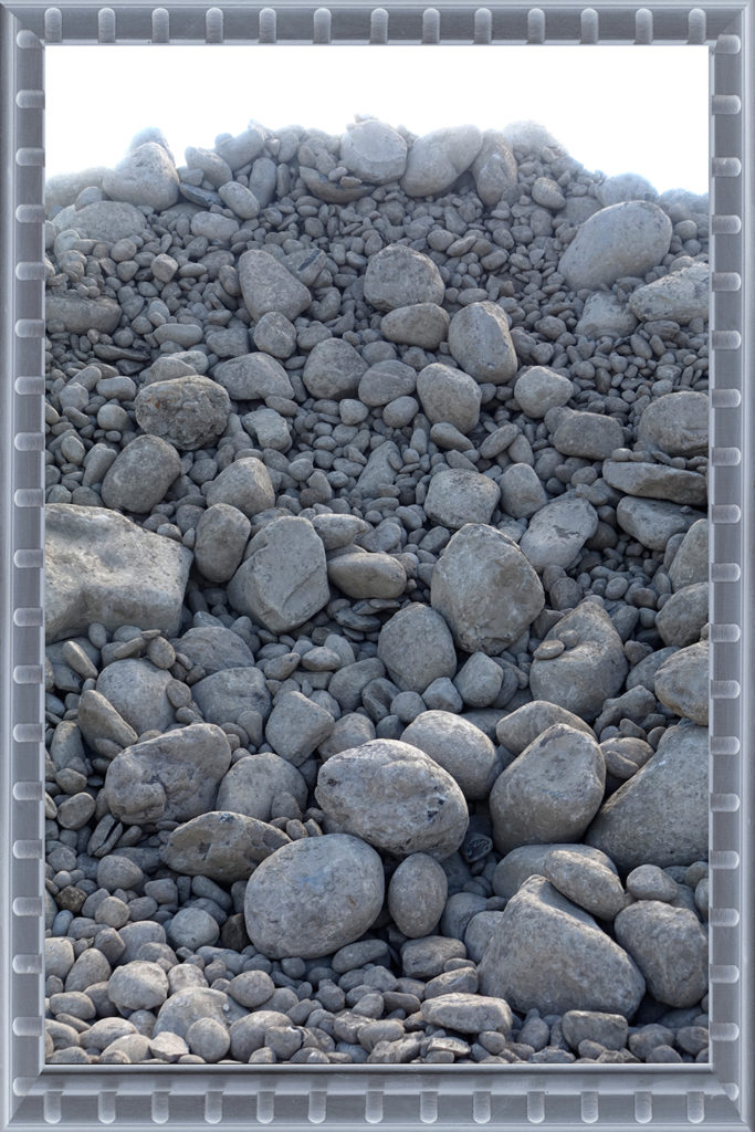 Altered Horizons 22 Robin Botie of Ithaca, New York, photoshops a fabricated landscape of rocks and stones in her dealing with grief and loss and depression.