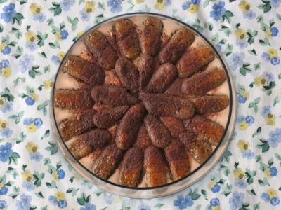 Robin Botie's tiramisu bowl before it broke in Ithaca, New York.